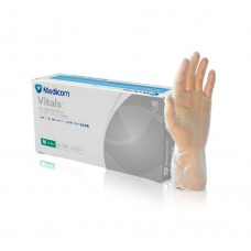 MEDICOM GLOVES CLEAR VINYL POWDER-FREE SIZE LARGE, CRT/10 BOXES (1209D)