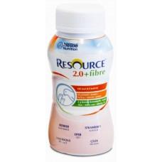 RESOURCE 2.0 FIBRE,  STRAWBERRY, 200ML BOTTLE, BOX/24 (12100786)