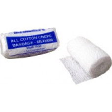 MEDICREPE ALL COTTON CREPE BANDAGE MEDIUM UNSTRETCHED 2.5CM  X1.6M, PACK/12 (ACC001)