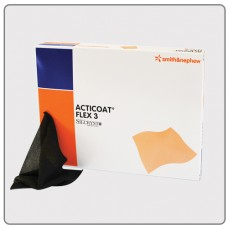 ACTICOAT FLEX THREE ANTIMICROBIAL BARRIER DRESSING 10CM X 10CM, PACK/12 (SN66800399)