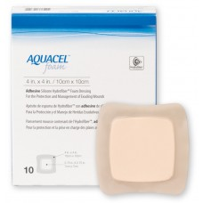 AQUACEL FOAM WOUND DRESSING ADHESIVE 10CM X 10CM, PACK/10 (CO420680)