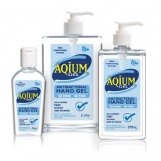 AQIUM ANTIBACTERIAL HAND SANITIZER 375ML PUMP (10377)