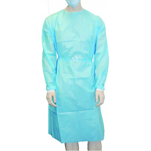 Owear Isolation Gown, Non Sterile Blue Waterproof Stockinet Cuff ...