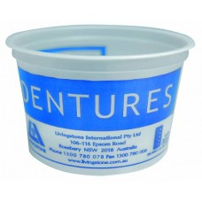 DENTURE CUP PLASTIC 250 ML, PACK/50 (LIVDENCUP)