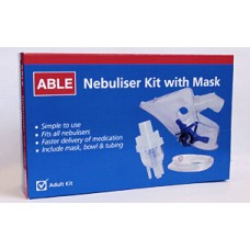 ABLE NEBULISER KIT WITH  MASK, EACH (WYNEBKIM)