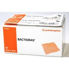 BACTIGRAS WOUND DRESSING 5CM X 5CM, PACK/50 (SN7456)