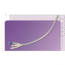FOLEY CATHETER, SILICONE,  2-WAY, 40CM, 10ML,  24FG MALE, EACH (UR011006)